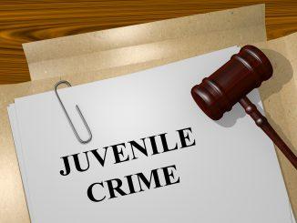 Render illustration of Juvenile Crime Title On Legal Documents